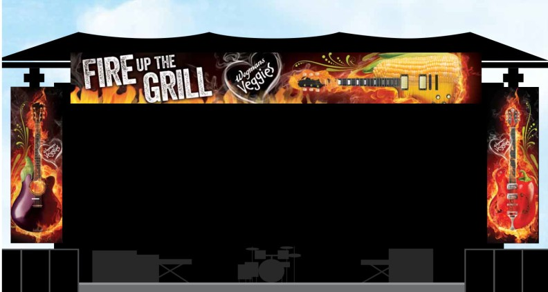 Fire up the Grill • concert stage banners