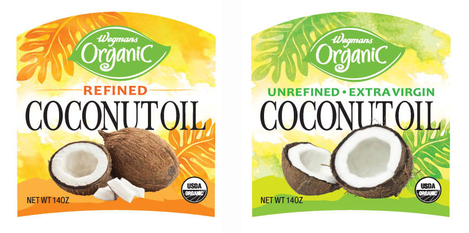 Wegmans Coconut Oil Packaging
